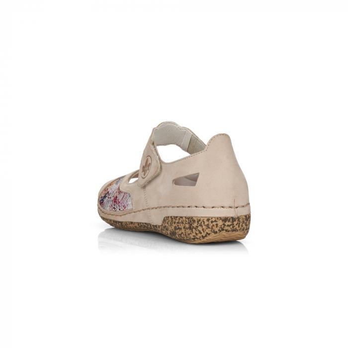 Pantofi de piele naturala decupati Rieker V7299-60 [3]