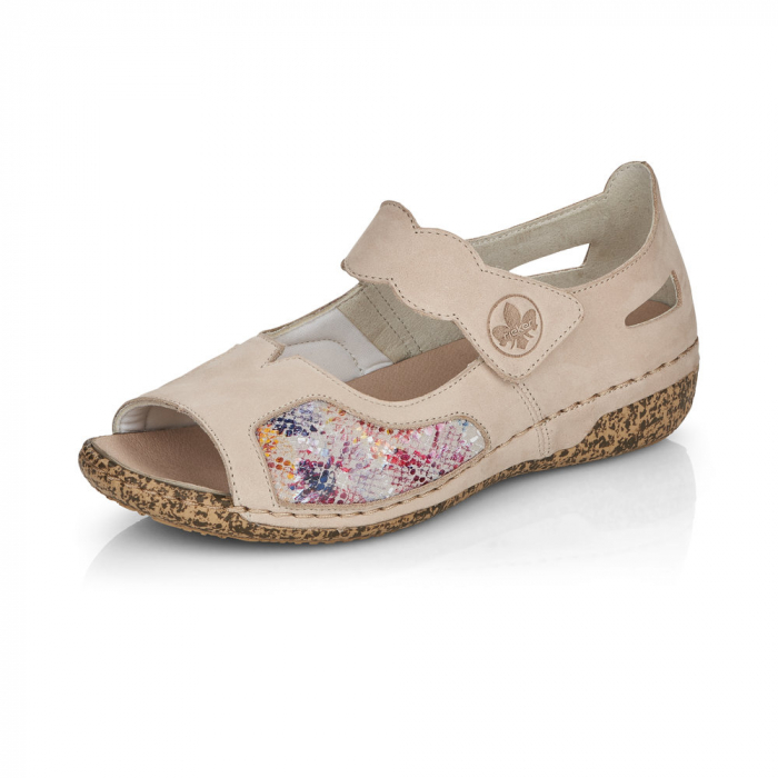 Pantofi de piele naturala decupati Rieker V7299-60 [6]