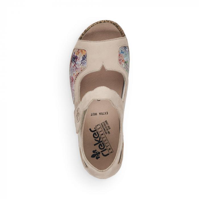 Pantofi de piele naturala decupati Rieker V7299-60 [4]