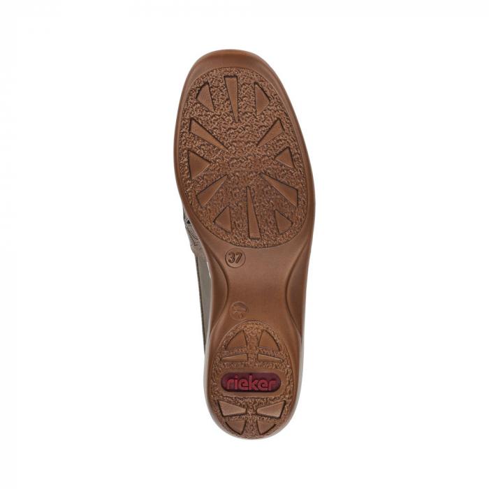 Pantofi de piele naturala Rieker 41356-64 Bej 6