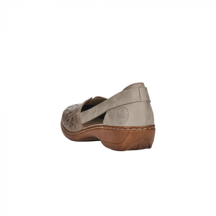 Pantofi de piele naturala Rieker 41356-64 Bej 1
