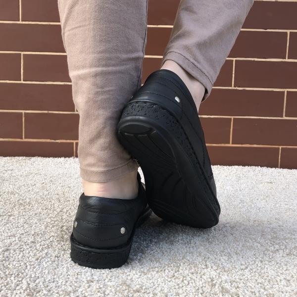 Pantofi Ortopedici din piele Medline 274/1 Negru 1