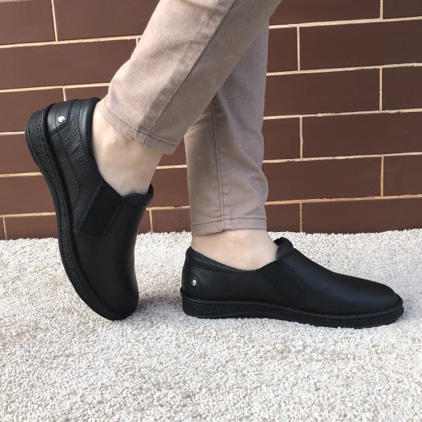Pantofi Ortopedici din piele Medline 274/1 Negru 0