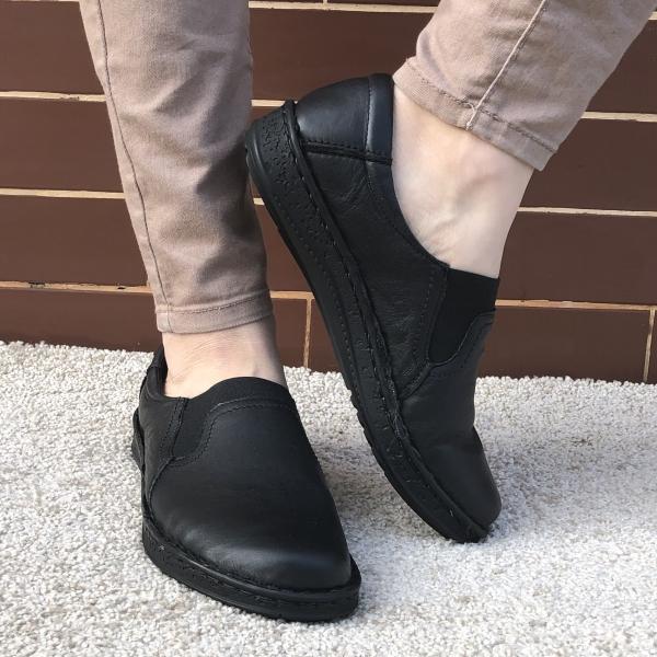 Pantofi din piele dama Medline 278/1 Negru 0