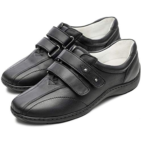 Pantofi din piele dama Medline 430 Negru 3