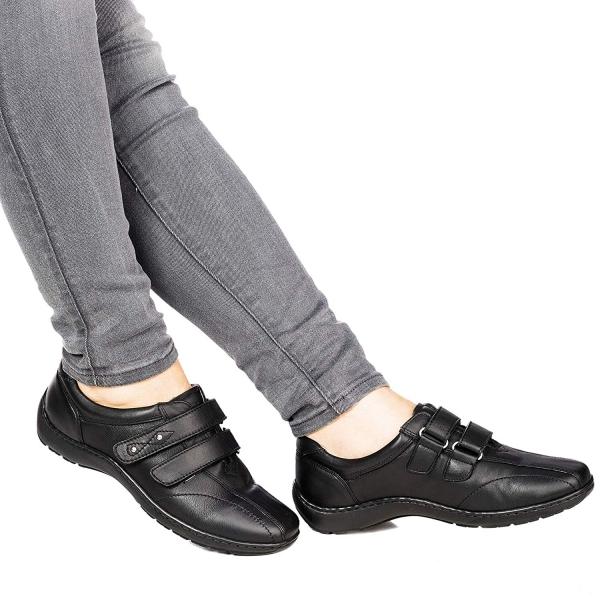 Pantofi din piele dama Medline 430 Negru 0
