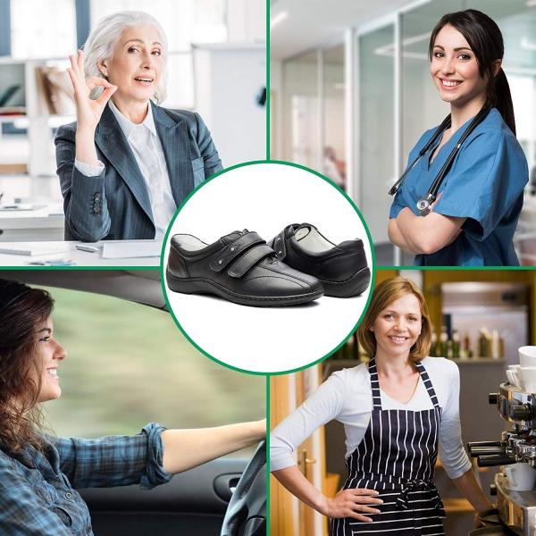 Pantofi din piele dama Medline 430 Negru 2