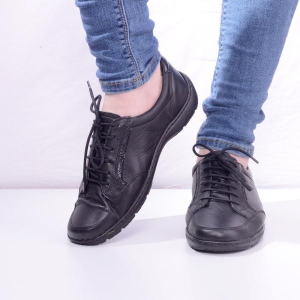 Pantofi din piele dama Medline 446 Negru 1