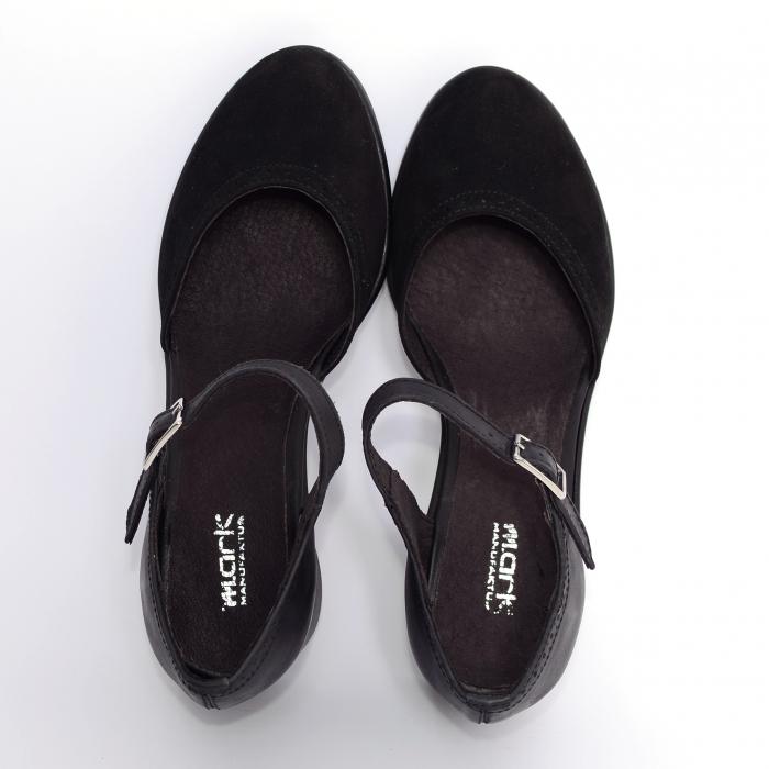 Pantofi din piele naturala 216 Negru 1