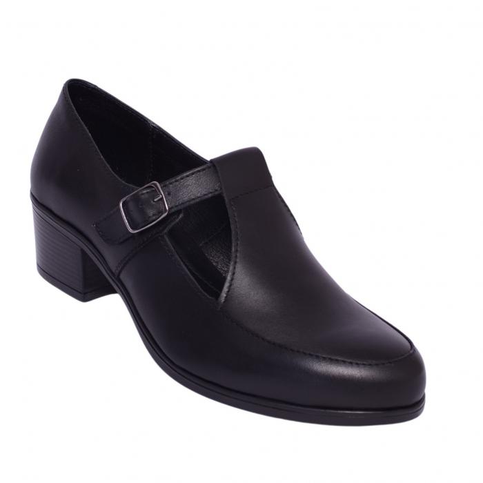 Pantofi din piele naturala 599 Negru 0