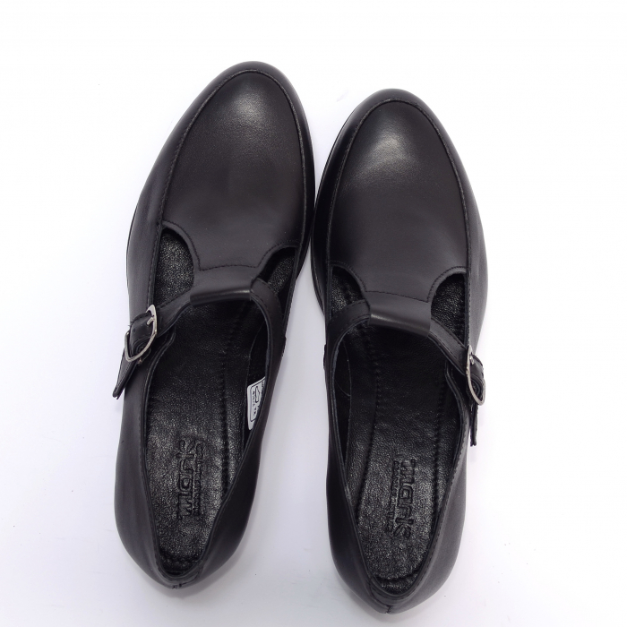 Pantofi din piele naturala 599 Negru 2