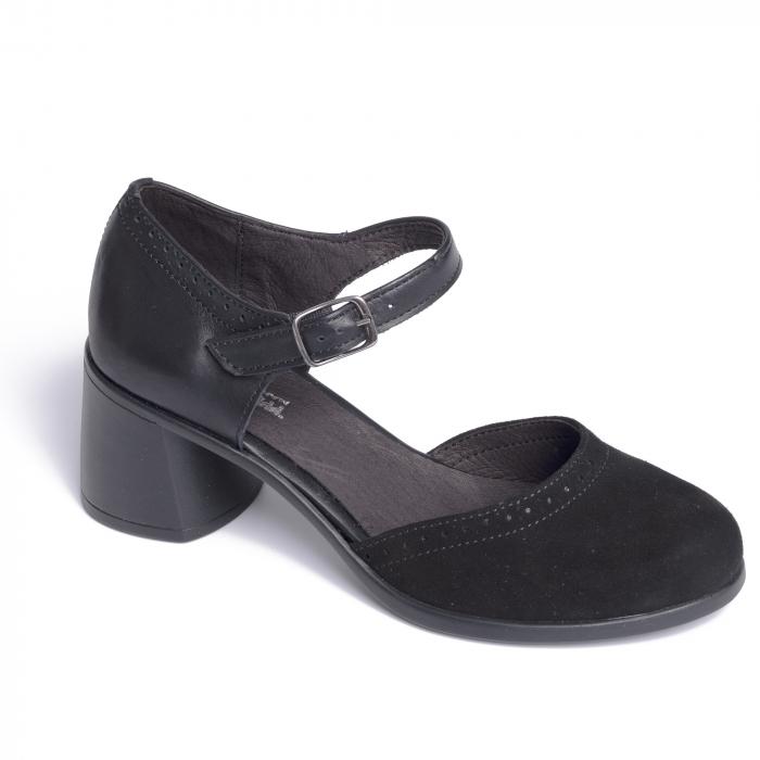 Pantofi din piele naturala 216 Negru [0]