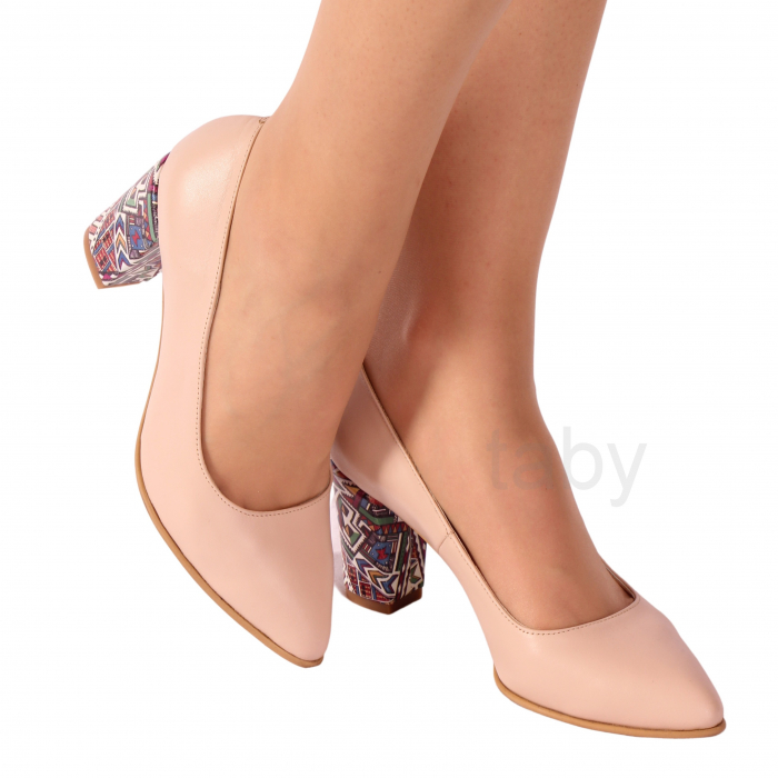 Pantofi din piele naturala 558 TIMB NUDE [0]
