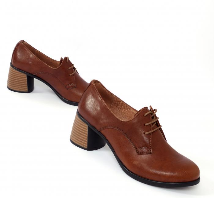 Pantofi din piele naturala 594 Maro [1]