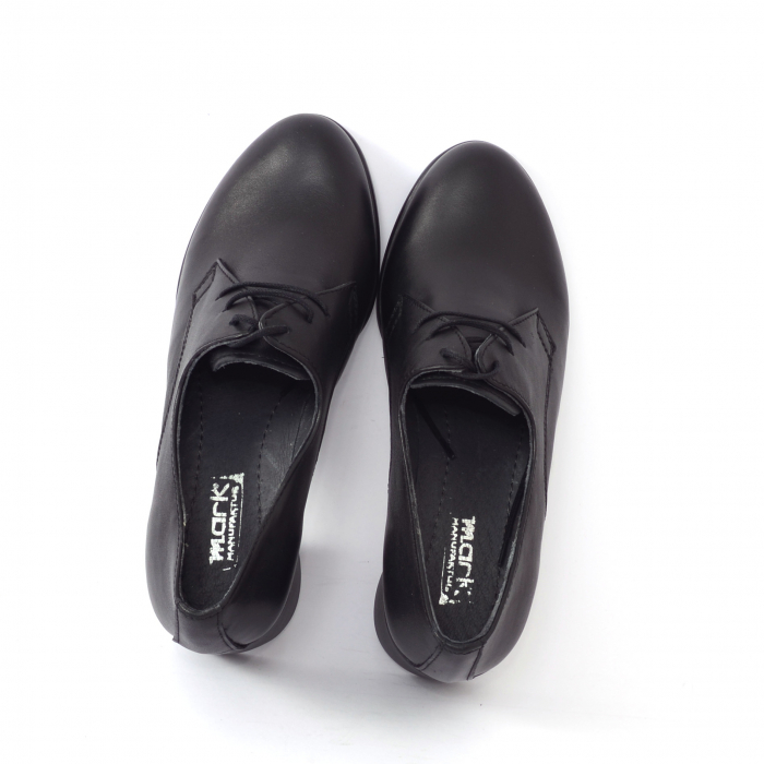 Pantofi din piele naturala 594 Negru [2]