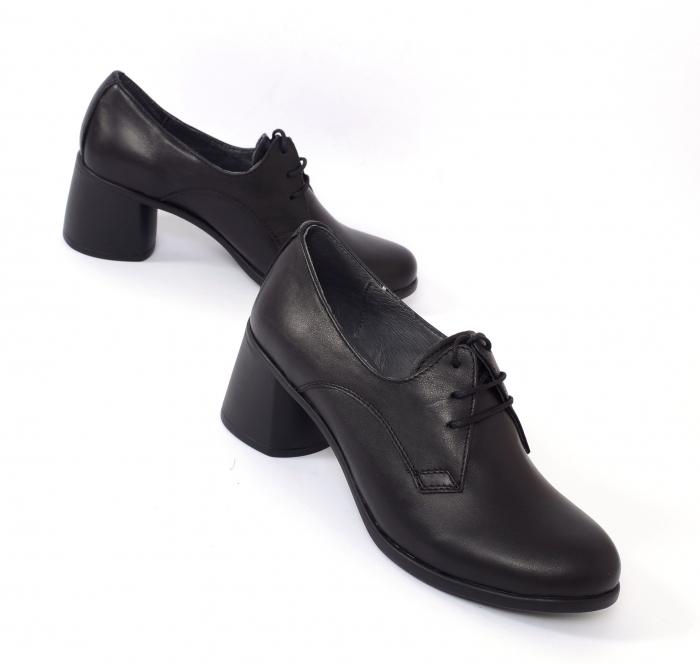 Pantofi din piele naturala 594 Negru [0]