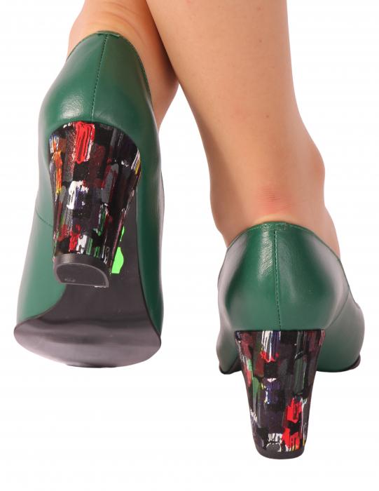 Pantofi din piele naturala 750 Timb Verde [2]