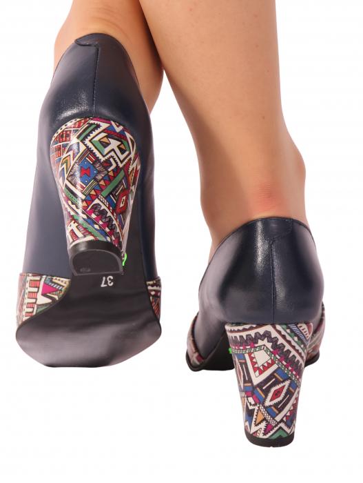 Pantofi din piele naturala 750 Tradi Bleumarin [1]