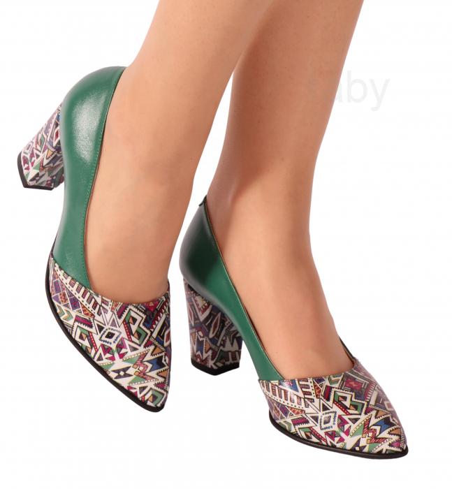 Pantofi din piele naturala 750 Tradi Verde [0]