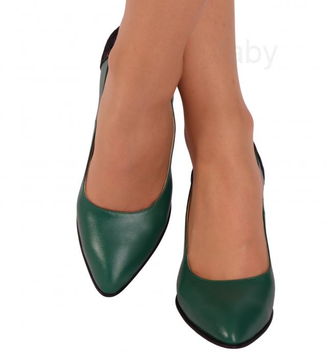 Pantofi din piele naturala 786 Verde [1]