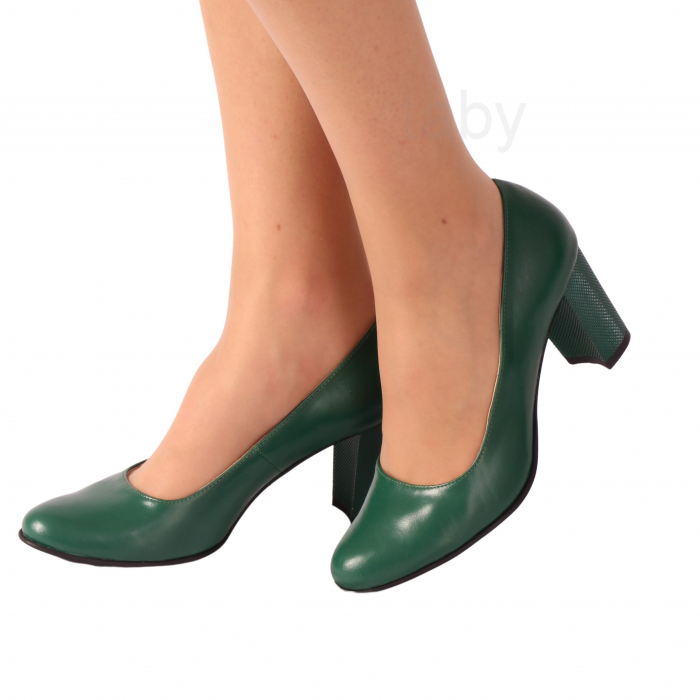 Pantofi din piele naturala 823 Verde [1]