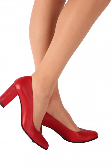Pantofi din piele naturala 823 Rosu [1]