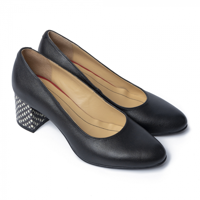 Pantofi din piele naturala Pasito Negru [0]