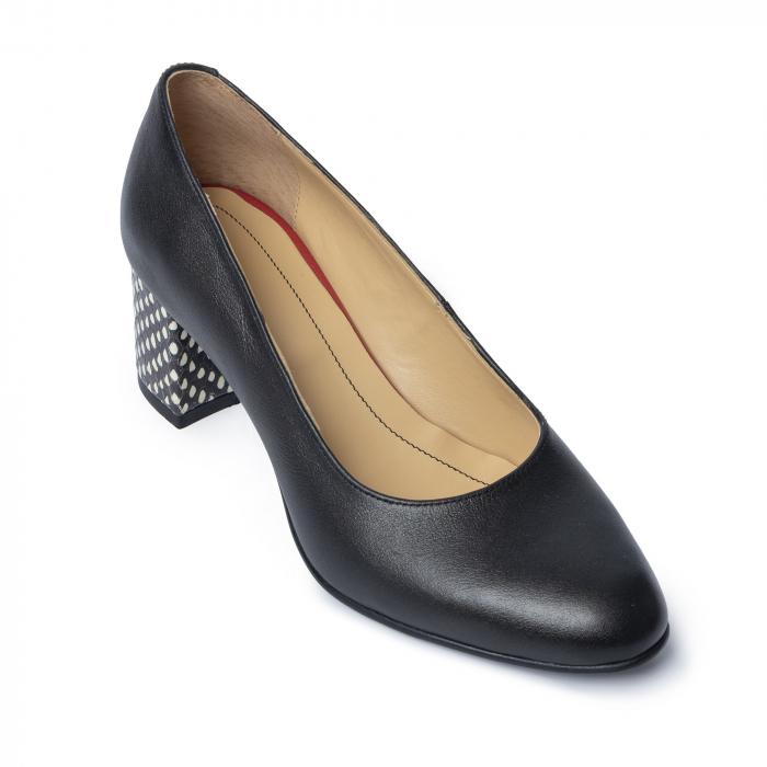 Pantofi din piele naturala Pasito Negru [1]
