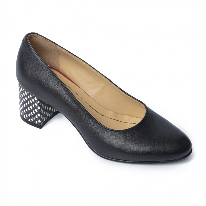 Pantofi din piele naturala Pasito Negru [2]