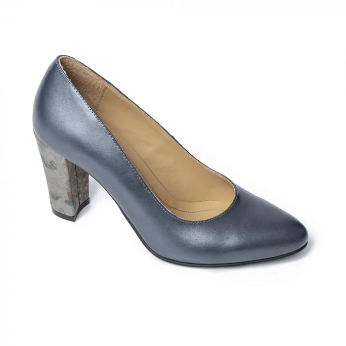 Pantofi din piele naturala Pasito Petrol [1]