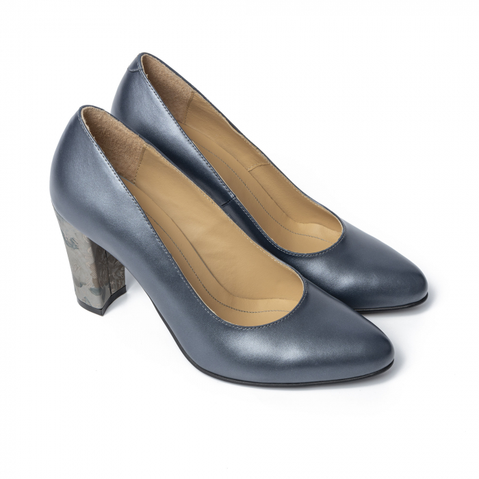 Pantofi din piele naturala Pasito Petrol [0]