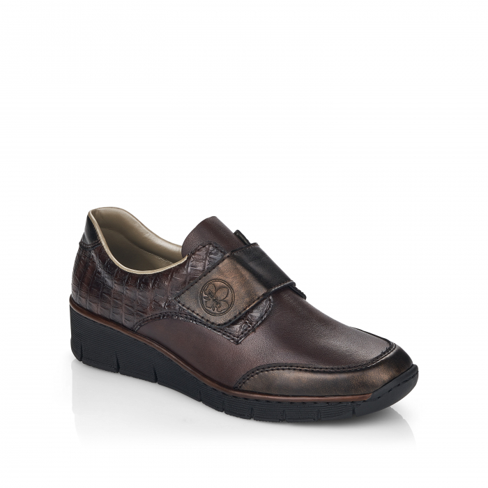 Pantofi din piele naturala Rieker 53750-25 Maro Inchis [1]