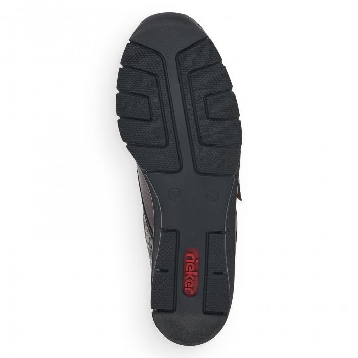 Pantofi din piele naturala Rieker 53750-25 Maro Inchis [7]
