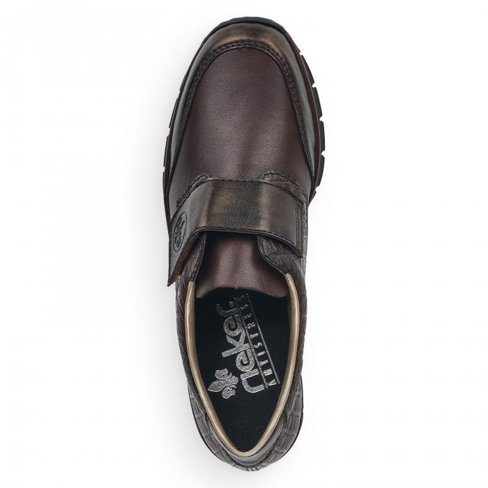 Pantofi din piele naturala Rieker 53750-25 Maro Inchis [4]