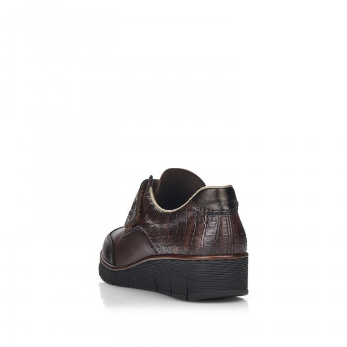 Pantofi din piele naturala Rieker 53750-25 Maro Inchis [3]