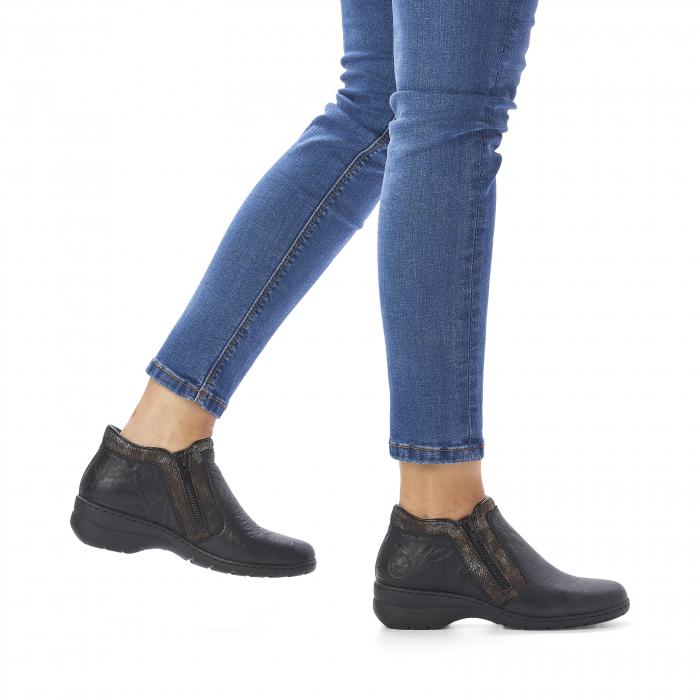 Pantofi din piele naturala Rieker L4382-00 [9]