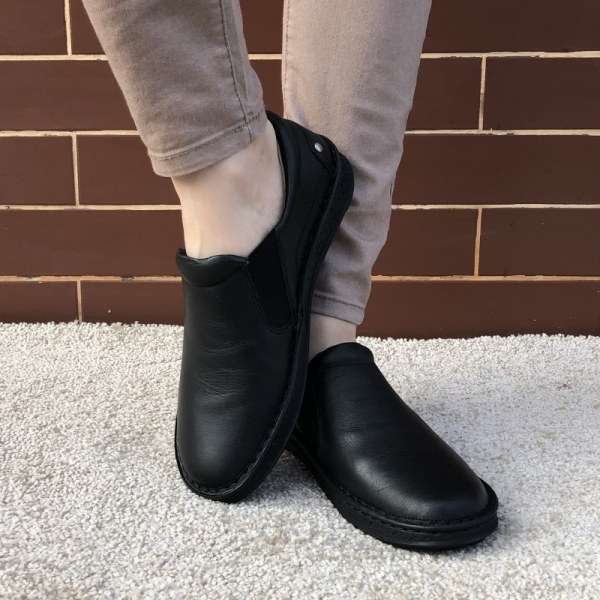 Pantofi Ortopedici din piele Medline 274/1 Negru 2