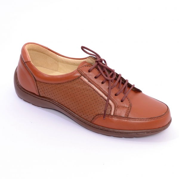 Pantofi piele Medline Confort 446 Maro 0