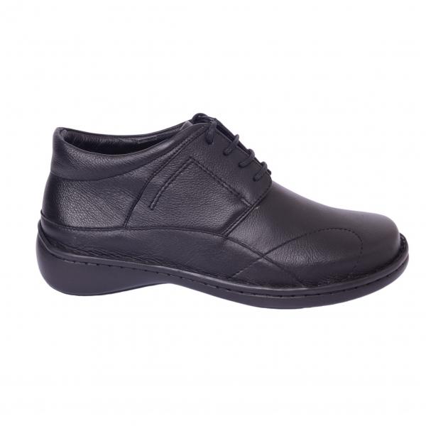 Pantofi piele Medline Confort 477 Negru 2