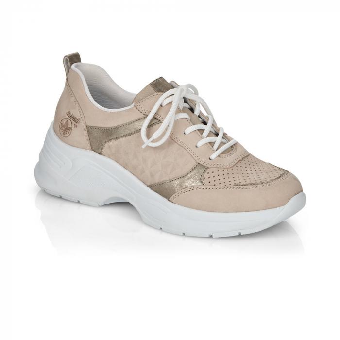Pantofi sport din piele naturala Rieker 59426-60 0