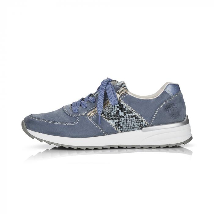 Pantofi sport din piele naturala Rieker N8024-10 6