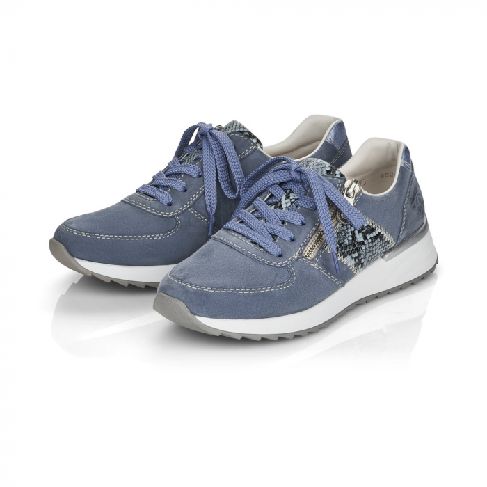 Pantofi sport din piele naturala Rieker N8024-10 2