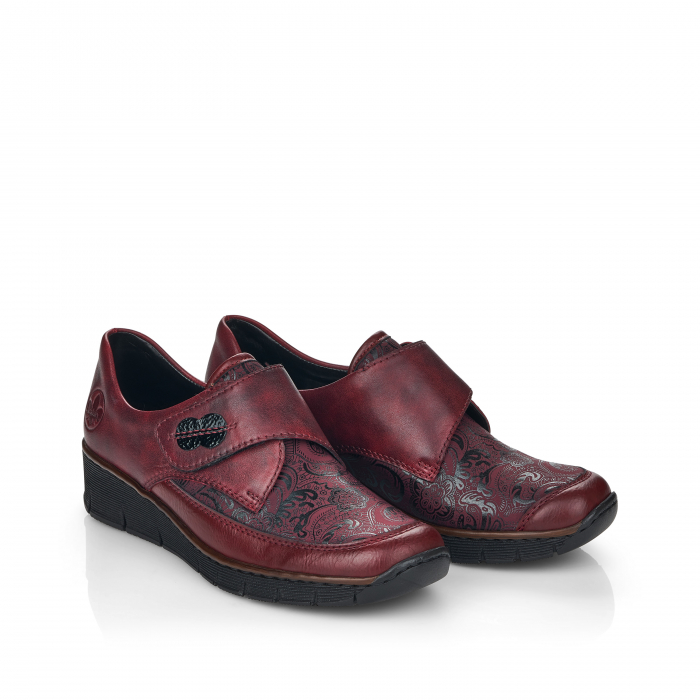 Pantofi din piele naturala Rieker 537C0-35 Visiniu [8]
