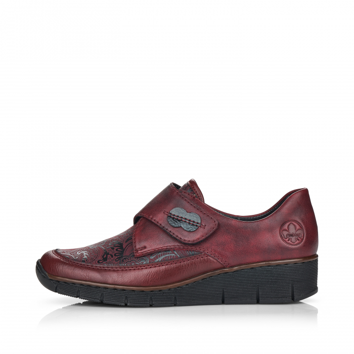 Pantofi din piele naturala Rieker 537C0-35 Visiniu [4]