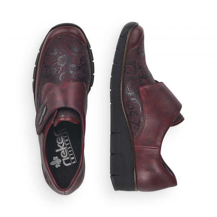 Pantofi din piele naturala Rieker 537C0-35 Visiniu [7]