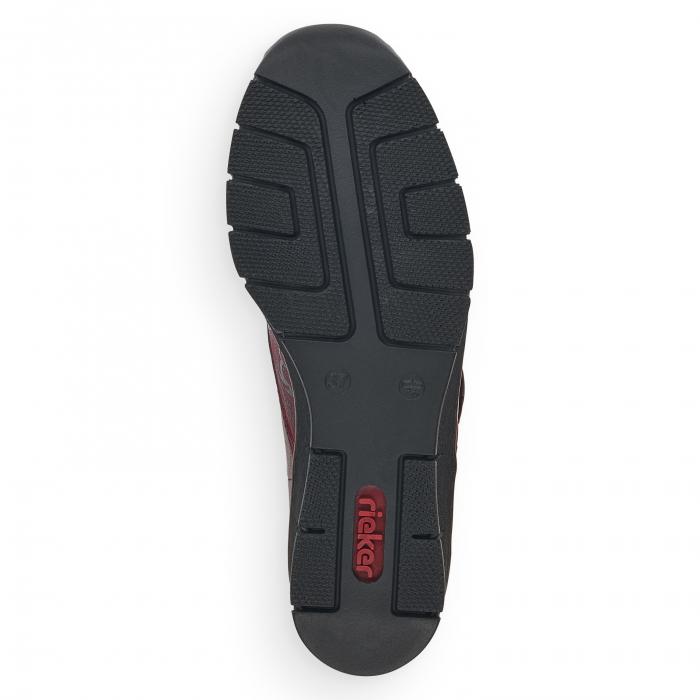 Pantofi din piele naturala Rieker 537C0-35 Visiniu [6]