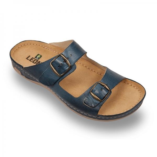 Papuci confortabili barbati Leon 703 albastru 0