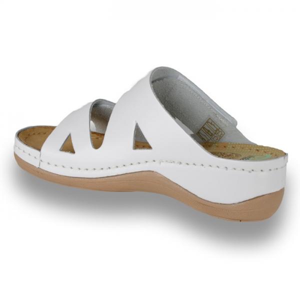Papuci confortabili dama Leon 906 Alb [1]