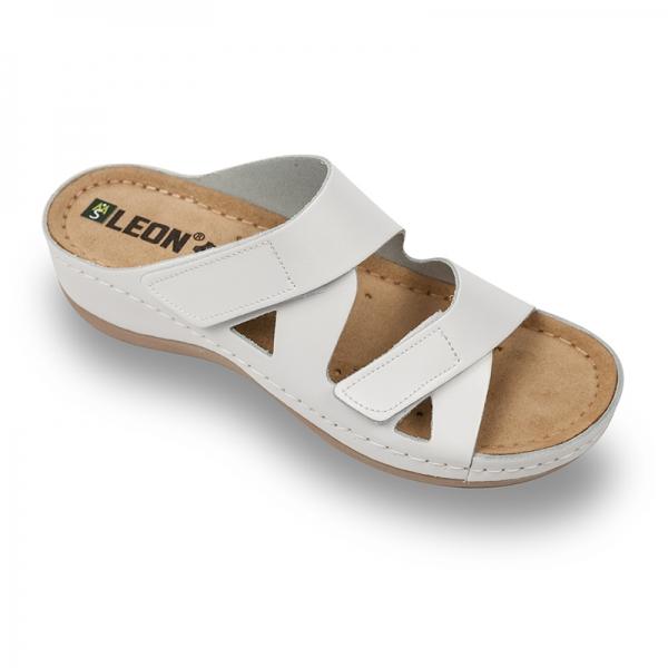 Papuci confortabili dama Leon 906 Alb [0]