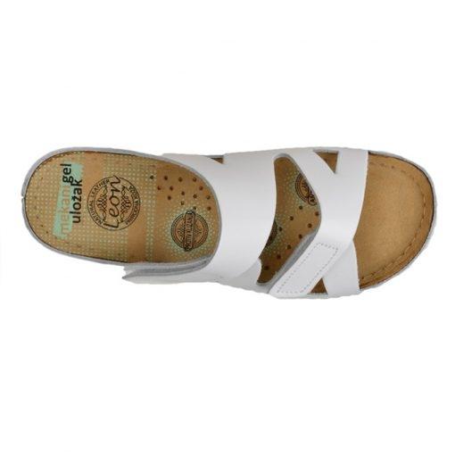 Papuci confortabili dama Leon 906 Alb [4]